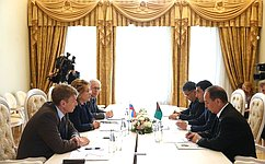 Председатель СФ ипредседатель Комитета позаконодательству Меджлиса Туркменистана обсудили межпарламентское сотрудничество
