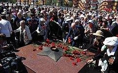 Ж. Иванова приняла участие впраздничных мероприятия, посвященных 69-й годовщине окончания Второй мировой войны