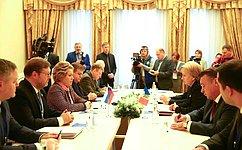 Председатель СФ, Председатель Совета МПА СНГ В.Матвиенко провела встречу сПредседателем Парламента Молдовы З.Гречаный