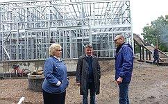 В. Озеров вовремя рабочего визита вХабаровский край посетил новостройки вВяземском районе