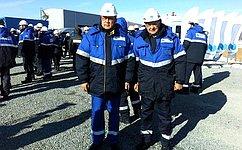 Б.Жамсуев иС.Жиряков приняли участие взапуске первой очереди Быстринского горно-обогатительного комбината вЗабайкалье