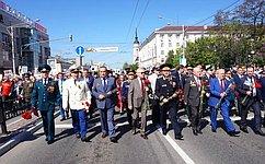 Сенатор А. Александров совершил поездку поКалужской области, где поздравил участников иветеранов Великой Отечественной войны