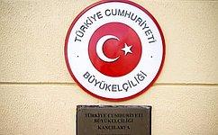 Глава Комитета СФ помеждународным делам К. Косачев посетил Посольство Турции вРФ всвязи стерактом вАнкаре