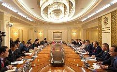 Председатель СФ Валентина Матвиенко провела встречу сПредседателем Верховного Народного Собрания КНДР Пак Тхэ Соном