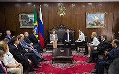 Подписано Соглашение оразвитии межпарламентского сотрудничества между СФ иФедеральным Сенатом Бразилии
