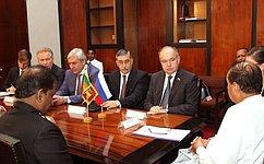 Делегация Совета Федерации воглаве свице-спикером И.Умахановым посетила Шри-Ланку