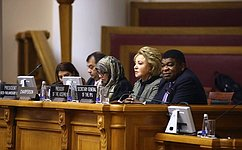 В. Матвиенко: Женщины должны использовать свое растущее влияние для решения самых острых мировых проблем