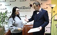 Сенатор С.Леонов провел встречи сжурналистами