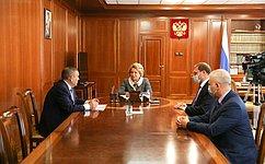 Председатель СФ В.Матвиенко провела встречу сглавой Республики Марий Эл А. Евстифеевым