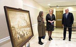 Проведение интересных художественных выставок стало вСовете Федерации хорошей традицией— Л.Гумерова