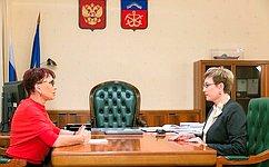 Т.Кусайко встретилась сгубернатором Мурманской области М.Ковтун