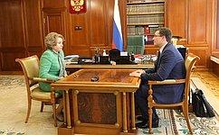 Председатель СФ В.Матвиенко провела встречу сгубернатором Нижегородской области Г.Никитиным