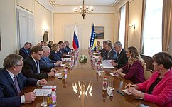 В.Матвиенко иБ.Изетбегович обсудили состояние российско-боснийских отношений