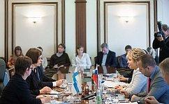 В. Матвиенко: Российские парламентарии настроены наактивное поддержание иразвитие регулярного иоткровенного диалога сФинляндией