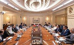 Председатель СФ иПредседатель Палаты депутатов Парламента Бахрейна обсудили перспективы межпарламентского взаимодействия