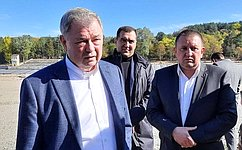 А. Артамонов посетил вКисловодске строящиеся объекты города-курорта