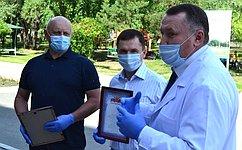 В. Назаров посетил Омскую областную детскую клиническую больницу