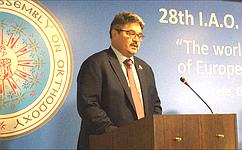 А. Широков принимает участие в28-й Генеральной ассамблее Межпарламентской ассамблеи православия