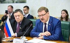 К.Косачев: Россия иКитай вместе могут сделать многое, чтобы тактика вмешательства Запада вдела других стран непревратилась встратегию