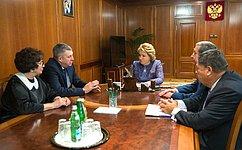 Председатель СФ В.Матвиенко игубернатор А.Богомаз обсудили вопросы развития Брянской области