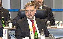 К.Косачев принял участие вшестой Встрече председателей парламентов государств «Группы двадцати» вЯпонии