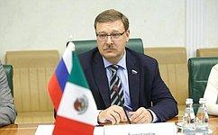 К. Косачев встретился сзаместителем Министра иностранных дел Мексики К.деИкасой