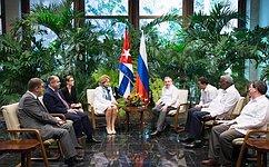 В.Матвиенко: Российско-кубинские отношения переживают период ренессанса