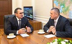 Н. Федоров обсудил актуальные проблемы развития российского Севера спредставителями руководства Республики Коми иФАДН