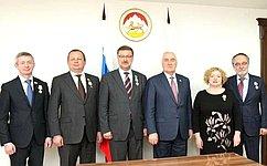 Российские сенаторы посетили Цхинвал иприняли участие впраздновании 25-летия Парламента Южной Осетии