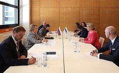 Председатель СФ В.Матвиенко встретилась сПредседателем Парламентской ассамблеи ОБСЕ М.Седерфельт