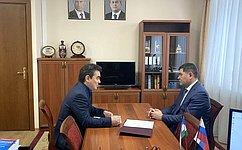 И. Ялалов провел рабочую встречу сГенеральным директором ООО «Газпром межрегионгаз Уфа»