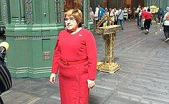Ольга Хохлова приняла участие вцеремонии передачи малой звонницы Главному храму ВС РФ