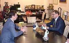 К.Косачев провел ряд встреч имероприятий вРеспублике Марий Эл