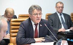 В. Озеров: Совет Федерации держит вфокусе своего внимания вопросы участия России вмиротворческих операциях