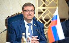 Мы являемся убежденными сторонниками российско-норвежского межпарламентского диалога иболее регулярных встреч— К.Косачев