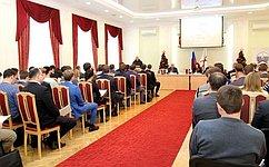 А. Вайнберг принял участие взаседании Совета молодых депутатов нижегородской области
