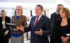 И. Морозов открыл вСовете Федерации выставку «Памятники Отечества. Великое Наследие. Завещано России»