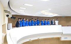 Юношеская команда красноярского ФК «Тотем» присутствовала назаседании Совета Федерации