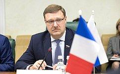 К.Косачев: Россия заинтересована впреодолении кризиса вотношениях сЕС