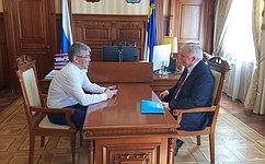 В. Наговицын обсудил навстрече сглавой Республики Бурятия А.Цыденовым вопросы развития региона