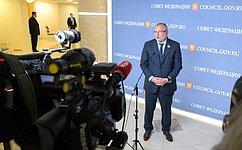 А. Клишас: Вдокладе Генерального прокурора назаседании СФ основное внимание было уделено защите прав исвобод граждан