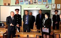 В. Бекетов: Очень важно– что здесь растят настоящих патриотов своей Родины, причем получают образование вказачьем кадетском корпусе мальчишки извсех уголков края