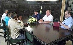 С. Цеков встретился спредседателем Комитета помеждународным делам Национальной ассамблеи народной власти Кубы