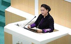 Перед сенаторами выступила Председатель Национального собрания Социалистической Республики Вьетнам