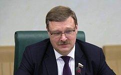 Диалог между парламентариями России иРеспублики Корея успешно развивается— К.Косачев