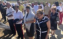 Е. Алтабаева приняла участие вцеремонии закладки храма вСевастополе