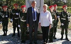 Ю.Валяев принял участие вторжественной церемонии открытия памятника «Фронтовой медсестре»