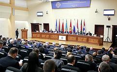 Ю.Воробьев принял участие ввыездном заседании Совета ПА ОДКБ идвенадцатом пленарном заседании ПА ОДКБ