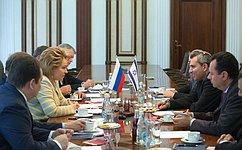 Между Россией иИзраилем налажен активный политический диалог— В.Матвиенко