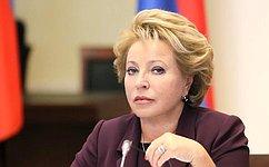 В. Матвиенко: Мировое сообщество обязано создать единый антитеррористический фронт